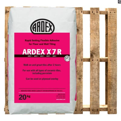 Ardex X7R Grey Rapid Set Tile Adhesive 20Kg Pallet of 50