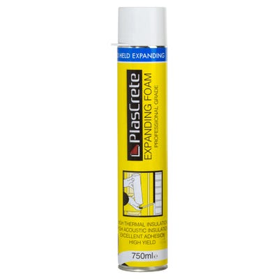 PlasCrete Hand Held PU Expanding Foam Filler 750ml