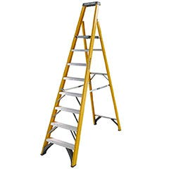 Youngman 8 Tread Heavy Duty Glass Fibre Platform Step Ladder