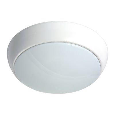 Polo IP54 15W LED Emergency Bulkhead With White Bezel Daylight