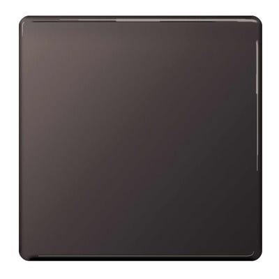 BG Nexus Screwless Flatplate 1 Gang Blanking Plate Black Nickel FBN94-01