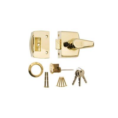 ERA 40mm Nightlatch for Front Doors in Brass