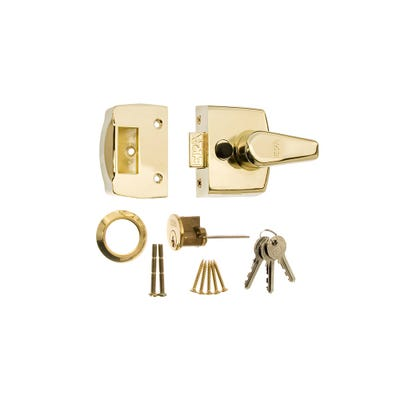 ERA 40mm Nightlatch for Front Doors in Brass