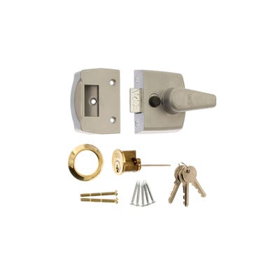 ERA 40mm Nightlatch for Front Doors in Satin Chrome