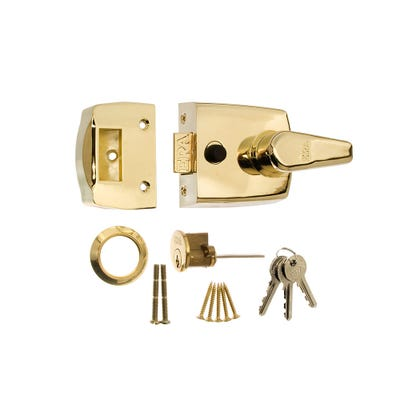 ERA 60mm Nightlatch for Front Doors in Brass