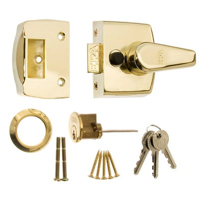 ERA 60mm Nightlatch for Front Doors in Satin Chrome