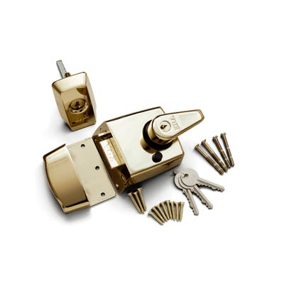 ERA BS Kitemarked Nightlatch 40mm Polished Brass