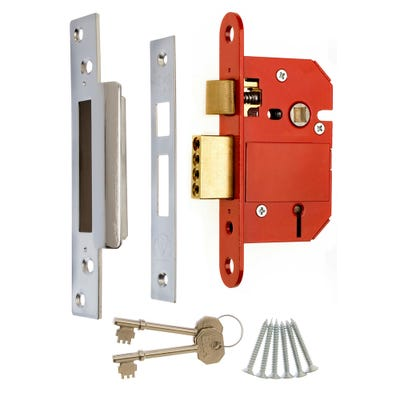 ERA BS 5 Lever Fortress Sashlock 64mm Satin