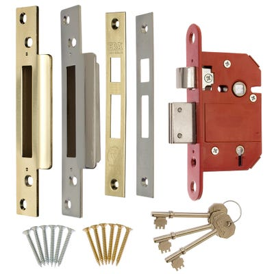ERA BS 5 Lever Fortress Deadlock 76mm Brass & Chrome