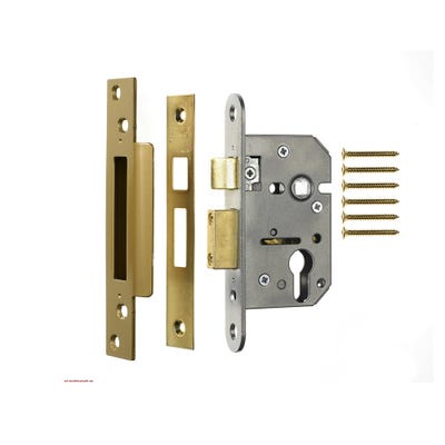 ERA Euro Cylinder Sashlock 76mm Brass (Case Only)
