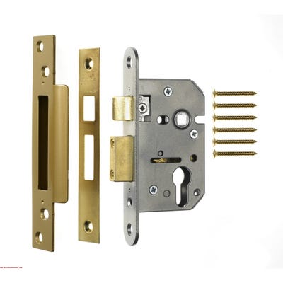 ERA Euro Cylinder Sashlock 76mm Satin Chrome