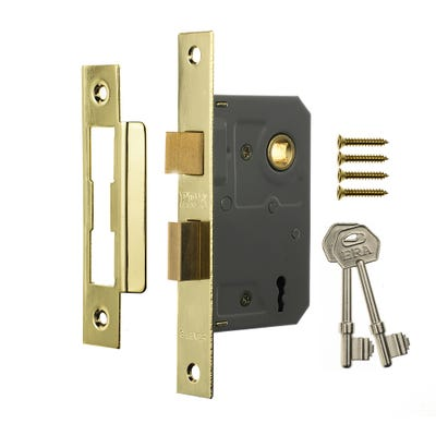 ERA 3 Lever Mortice Sashlock 76mm Brass