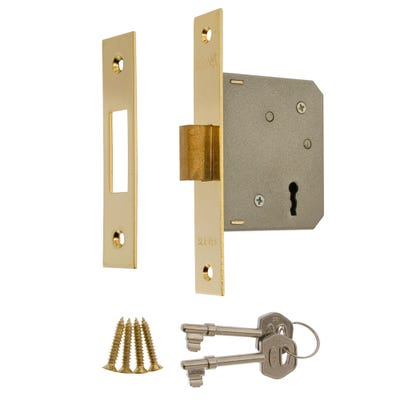 ERA 3 Lever Mortice Deadlock 76mm Brass