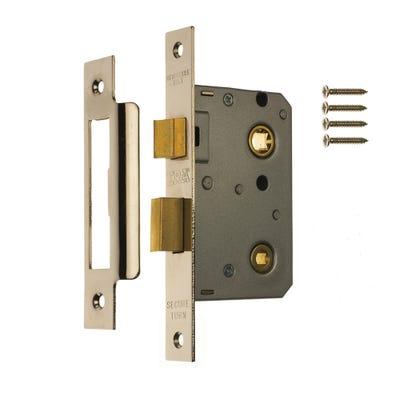 ERA Bathroom Door Lock 64mm Brass