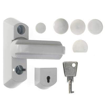 ERA Sash Jammer For uPVC Windows White With Keylock