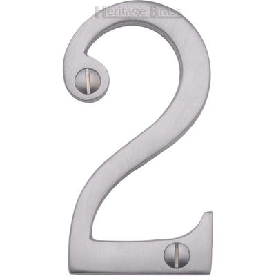 Heritage Brass Number Two in Satin Chrome