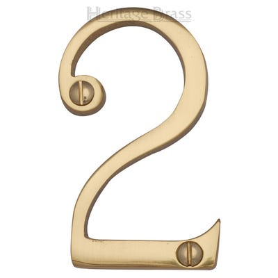 Heritage Brass Number Two in Polished Brass