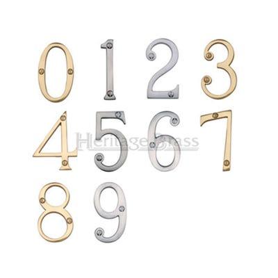 Heritage Brass Number Nine in Polished Brass