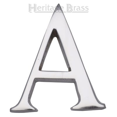Heritage Brass Letter A in Polished Chrome