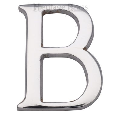 Heritage Brass Letter B in Polished Chrome
