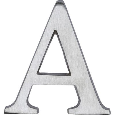 Heritage Brass Letter A in Satin Chrome