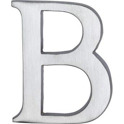 Heritage Brass Letter B in Satin Chrome
