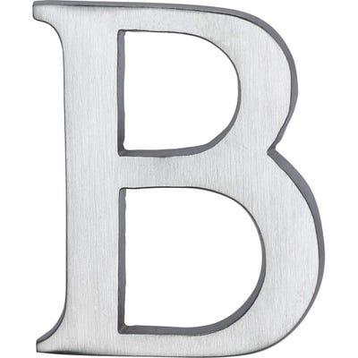 Heritage Brass Letter B in Satin Chrome