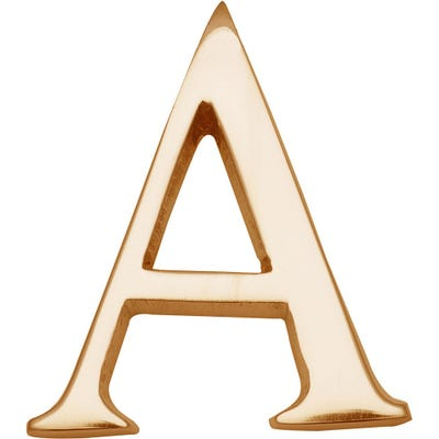 Heritage Brass Letter A in Polished Brass