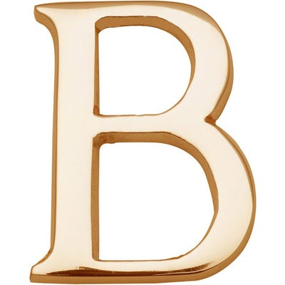 Heritage Brass Letter B in Polished Brass