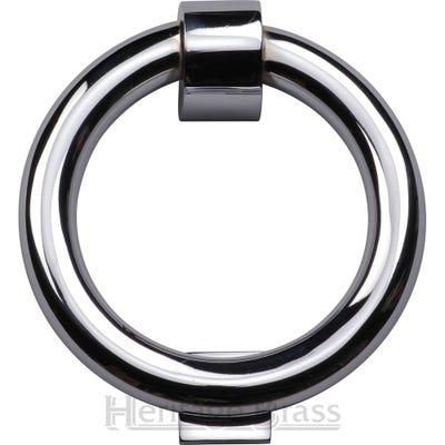 Heritage Brass Ring Knocker 107mm Diameter Polished Chrome