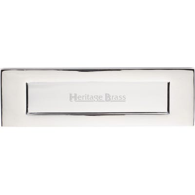 Heritage Brass Letter Plate 254mm x 76mm Polished Chrome
