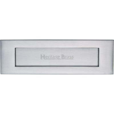 Heritage Brass Letter Plate 254mm x 76mm Satin Chrome