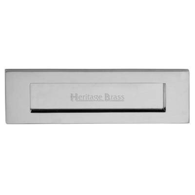 Heritage Brass Letter Plate 254mm x 102mm Polished Chrome