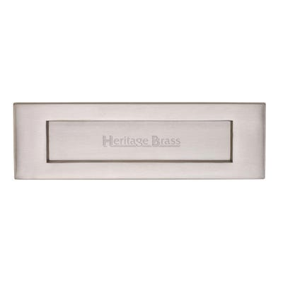 Heritage Brass Letter Plate 254mm x 102mm Satin Chrome