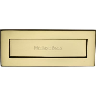 Heritage Brass Letter Plate 254mm x 102mm Polished Brass