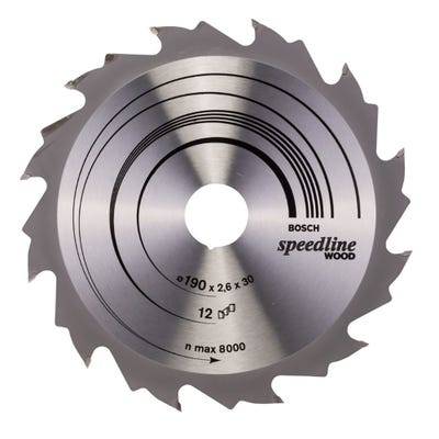 Bosch Circular Saw Blade Speedline Wood 190 x 2.6 x 30mm 12T