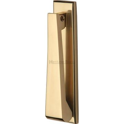 Heritage Brass Slim Door Knocker 167mm Polished Brass