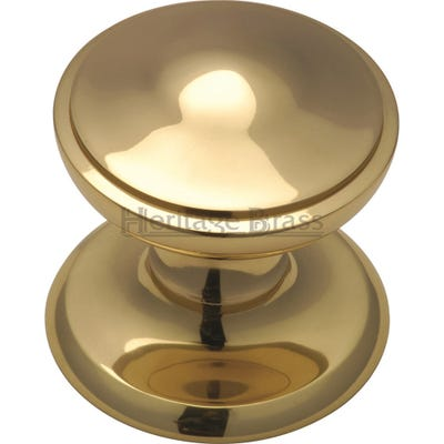 Heritage Brass Centre Door Knob 80mm Polished Brass