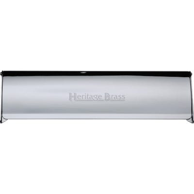 Heritage Brass Interior Letter Flap 300mm x 86mm Polished Chrome