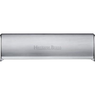 Heritage Brass Interior Letter Flap 300mm x 86mm Satin Chrome