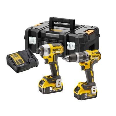 DeWalt DCK266P2T 18V XR Brushless Combi & Impact Driver + 2 x 5Ah Batteries