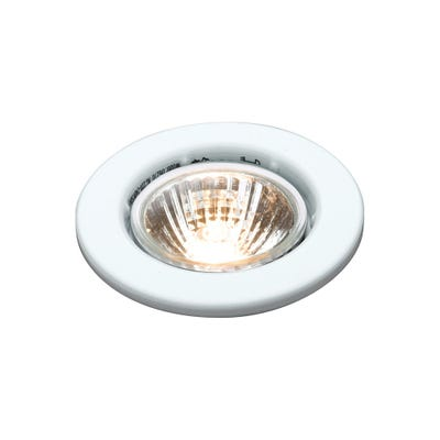 Knightsbridge Fixed GU10 50W Downlight White