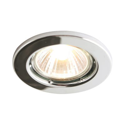 Knightsbridge Fixed GU10 50W Downlight Chrome