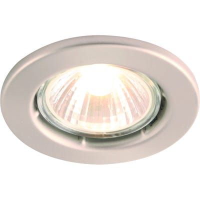 Knightsbridge Fixed GU10 50W Downlight Brushed Chrome