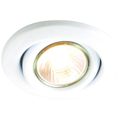 Knightsbridge Tilt GU10 50W Downlight White