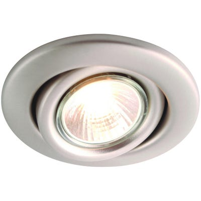 Knightsbridge Tilt GU10 50W Downlight Brushed Chrome