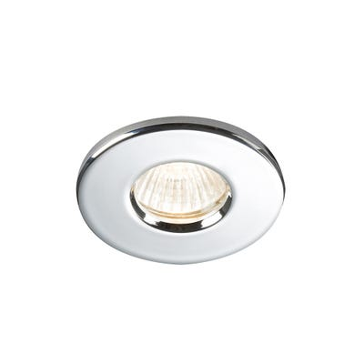 Knightsbridge IP65 GU10/MR16 Shower Downlight Chrome
