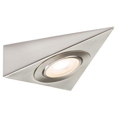 Knightsbridge LED Triangle Under Cabinet Light Brushed Chrome 3000K
