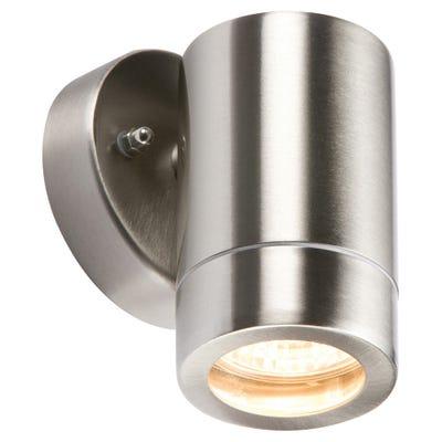 Knightsbridge 35W IP65 GU10 Up Or Down Wall Light Stainless Steel