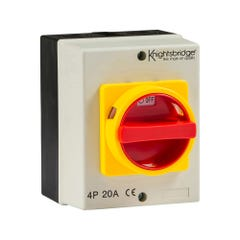 Knightsbridge IP65 Rotary Isolator 20A 4 Pole 230V-415V IN0025